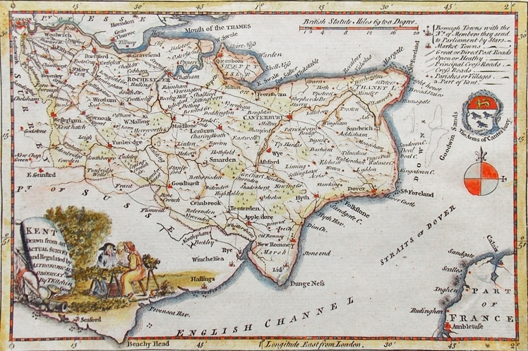Thos Kitchin map ca 1769